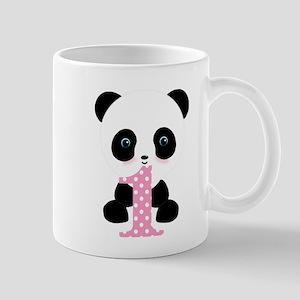 Panda Bear 1st Birthday Mugs