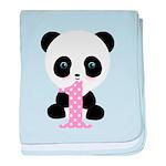 Panda Bear 1st Birthday baby blanket