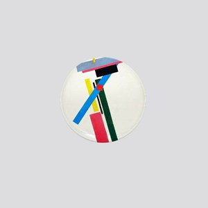 Malevich Abstract Rectangles Russian A Mini Button