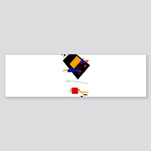 Malevich Abstract Rectangles Russia Bumper Sticker