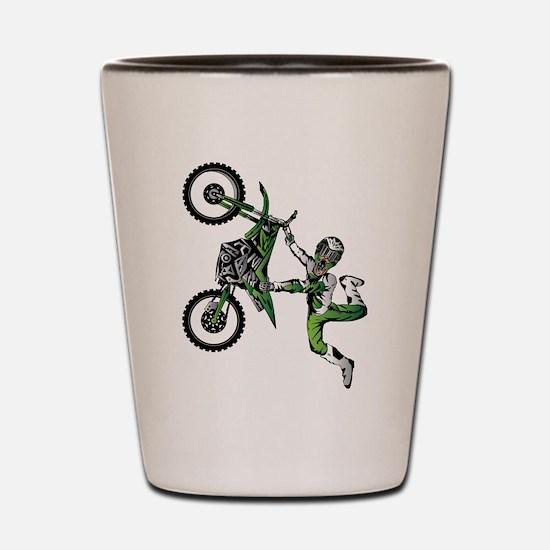 Cool Dirt bike Shot Glass