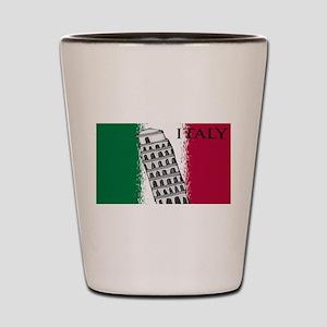 Italian Flag Art Shot Glass