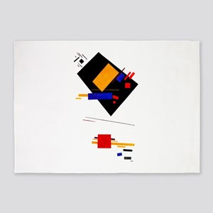 Malevich Abstract Rectangles Russia 5'x7'Area Rug