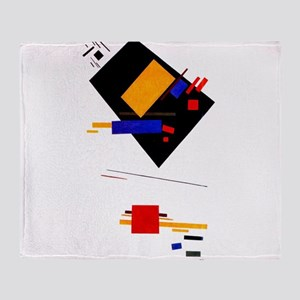 Malevich Abstract Rectangles Russian Throw Blanket