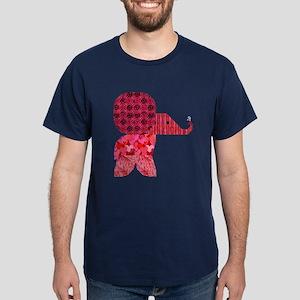Quilter Pink Elephants t-shir Dark T-Shirt