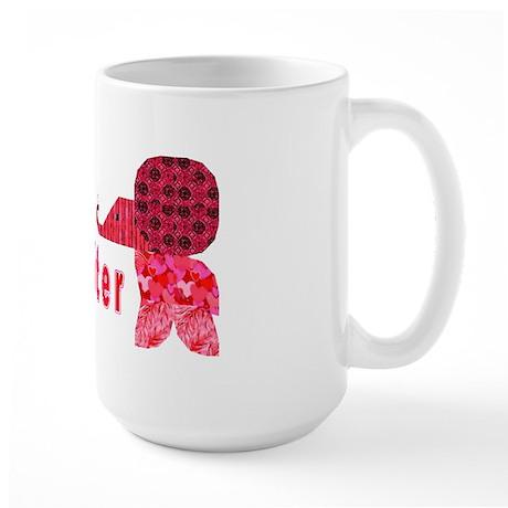 Quilter Pink Elephants t-shir Large Mug
