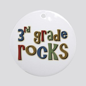 3rd Grade Rocks Third School Ornament (Round)
