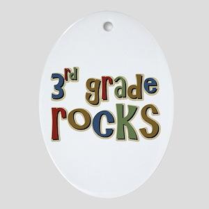 3rd Grade Rocks Third School Oval Ornament
