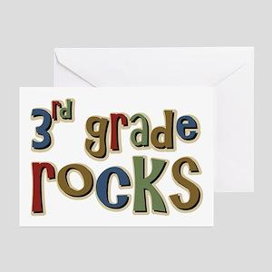 3rd Grade Rocks Third School Greeting Cards (Packa