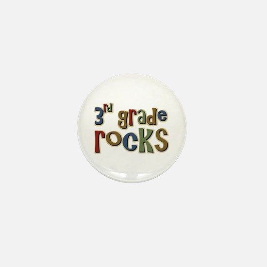 3rd Grade Rocks Third School Mini Button