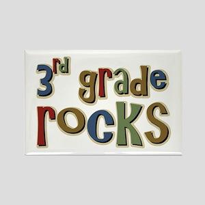3rd Grade Rocks Third School Rectangle Magnet