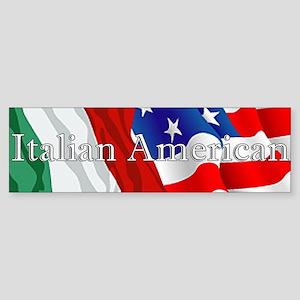 Italian American Logo Bumper Sticker