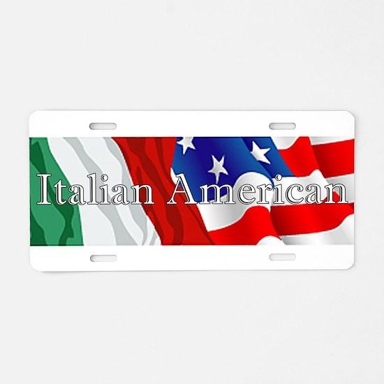 Italian American Logo Aluminum License Plate