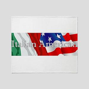 Italian American Logo Throw Blanket