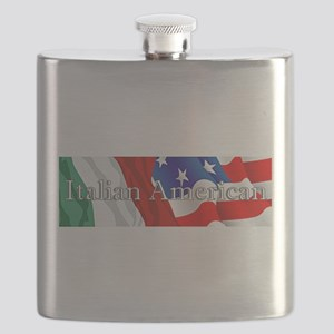Italian American Logo Flask