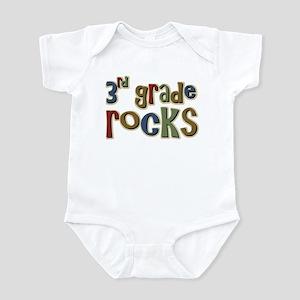 3rd Grade Rocks Third School Infant Bodysuit