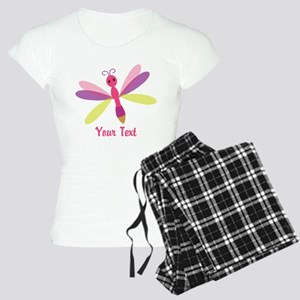 Cute Pink, Purple and Green Dragonfly; Girl Pajama