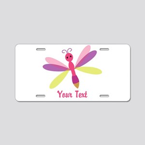 Cute Pink, Purple and Green Dragonfly; Girl Alumin