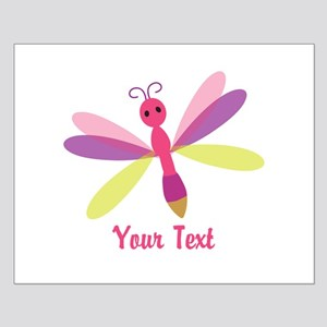 Cute Pink, Purple and Green Dragonfly; Girl Poster