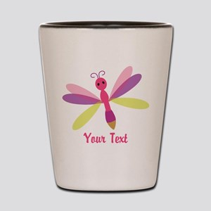Cute Pink, Purple and Green Dragonfly; Girl Shot G