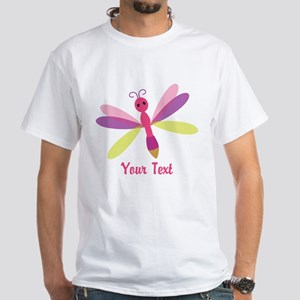 Cute Pink, Purple and Green Dragonfly; Girl T-Shir