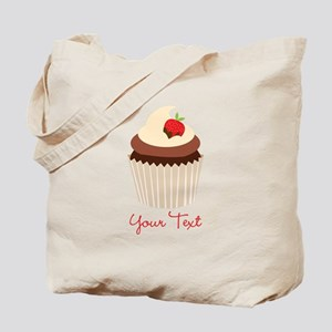 Cute Chocolate and Strawberry Cupcake, Girl Tote B