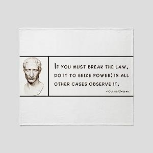 Julius Caesar Quote Throw Blanket