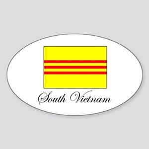 South Vietnam - Flag Oval Sticker