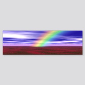 Beautiful Rainbow and Field of Red Bumper Sticker