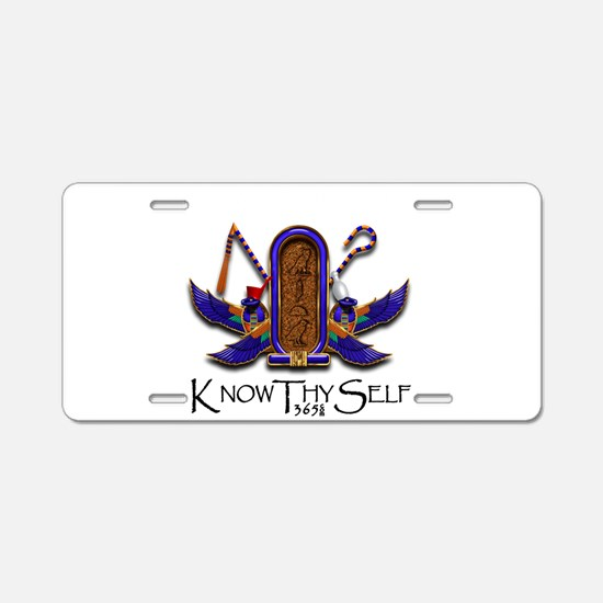 Knowthyself Logo Aluminum License Plate