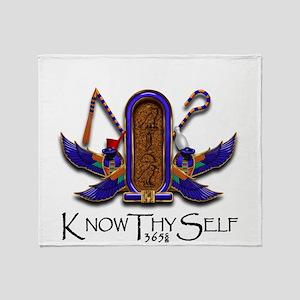Knowthyself Logo Throw Blanket