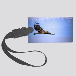 Bald Eagle Flying Over Cooks Inl Large Luggage Tag