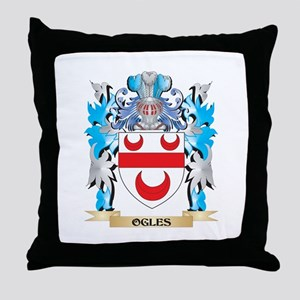 Ogles Coat of Arms - Family Crest Throw Pillow