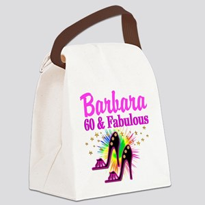 GLAMOROUS 60TH Canvas Lunch Bag