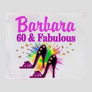 GLAMOROUS 60TH Throw Blanket