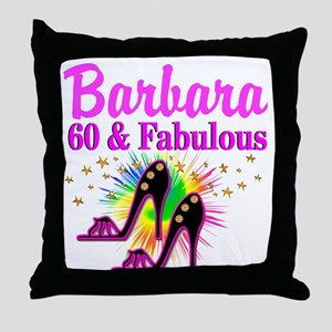 GLAMOROUS 60TH Throw Pillow