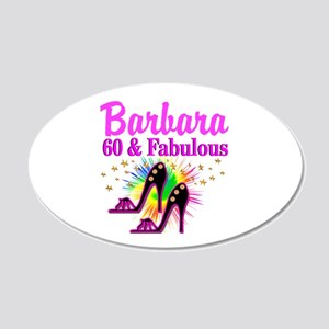 GLAMOROUS 60TH 20x12 Oval Wall Decal