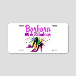 GLAMOROUS 60TH Aluminum License Plate