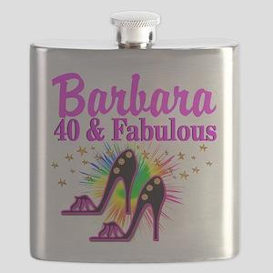 GLAMOROUS 40TH Flask