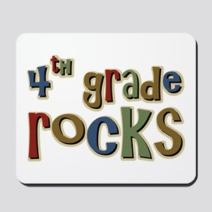 4th Grade Rocks Fourth School Mousepad
