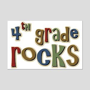 4th Grade Rocks Fourth School Mini Poster Print