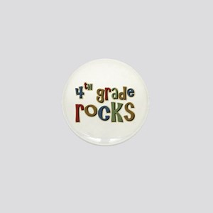 4th Grade Rocks Fourth School Mini Button