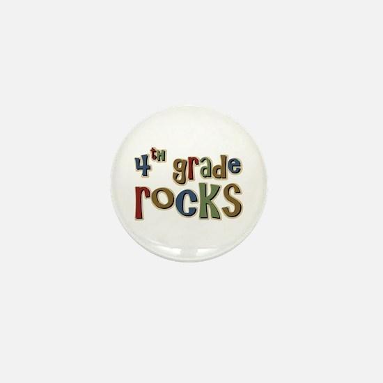 4th Grade Rocks Fourth School Mini Button