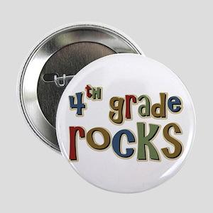 4th Grade Rocks Fourth School Button