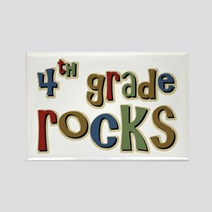 4th Grade Rocks Fourth School Rectangle Magnet