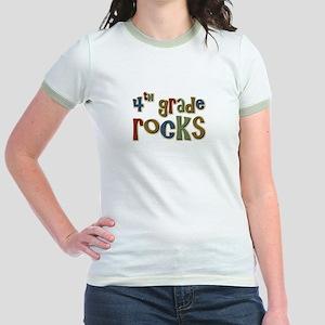 4th Grade Rocks Fourth School Jr. Ringer T-Shirt