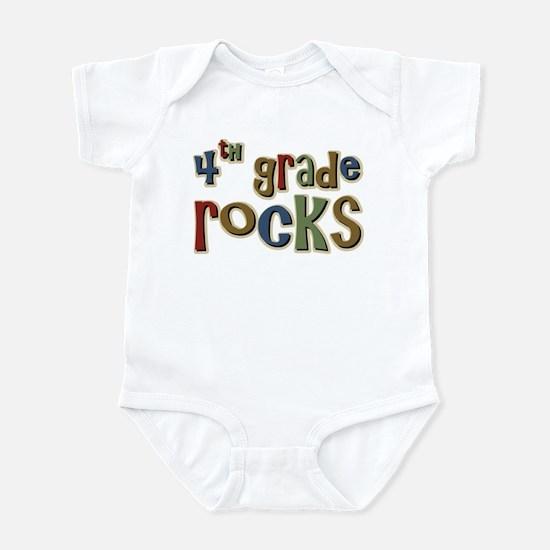 4th Grade Rocks Fourth School Infant Bodysuit