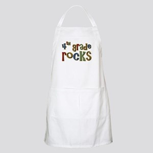 4th Grade Rocks Fourth School BBQ Apron