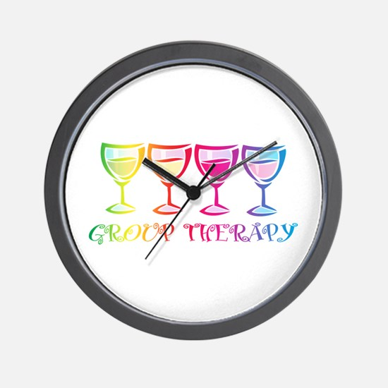 Wine Group Therapy 2 Wall Clock