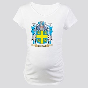 Oswalt Coat of Arms - Family Cre Maternity T-Shirt